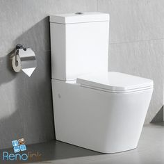 WINSTON TOILET SUITE SQUARE CUBE BACK TO WALL FACED CLOSE COUPLED SOFT CLOSE 003
