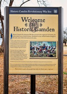 REVOLUTIONARY WAR - Historic Camden Revolutionary War Site in Camden, South Carolina - The site's 107 acres preserves structures and grounds that are representative of the Southern theater of the American Revolutionary War.