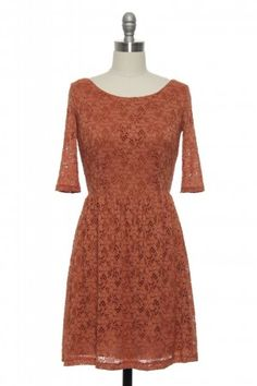 Three favs in one: lace, fall colors, 3/4 sleeves. can't go wrong with this one.
