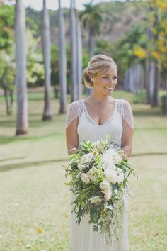 cascading bridal bouquet / Christina Heaston Photography / Passion Roots Floral Design