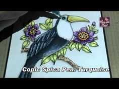 Using Spica pens to add shading to Copic Coloured Images