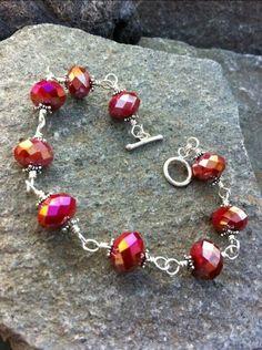 wire and 9 bead bracelet. csa