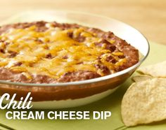 Layer cream cheese and then chili in a microwave-safe bowl, top with shredded cheddar cheese and heat until warm. Make this with Hormel® Chili.