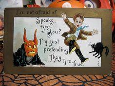 halloween spooks   Halloween Spooks Postcard, 1910