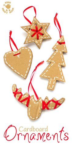 recycled Christmas Crafts Pretty DIY cardboard ornaments will make your Christmas tree and home gorgeous this Winter. A simple recycled Christmas craft for kids and adults. Recycled Christmas Decorations, Christmas Arts And Crafts, Christmas Activities, Xmas Ornaments, Diy Christmas Ornaments, Homemade Christmas, Simple Christmas, Kids Christmas, Holiday Crafts