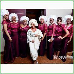 white burgundy bellaedoasoebi brides asoebi bellaedoweddings