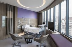 Private ward at The Farrer Park Hospital Singapore by DP Design