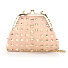 Zara Mini Messenger Bag With Studs And Clasp Fastening ($40) ❤ liked on Polyvore featuring bags, clutches, purses, accessories, pink, mini messenger bag, courier bag, zara bags, red messenger bag and leather bags