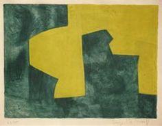 Composition verte et jaune - Serge Poliakoff