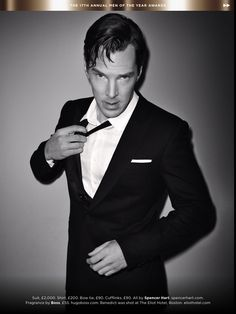 WHAT THE FRENCH TOAST?!?!?! {Benedict Cumberbatch in British GQ magazine-Actor of the Year}