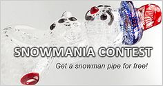 Get a snowman pipe for free! Weed Pipes, Pipes And Bongs, Cheap Bongs, Bongs Online, Online Head Shop, Water Bongs, Glass Bongs, Badass, Snowman