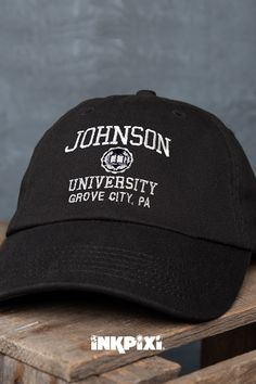 91c766284 You'll be the top of your class in this personalized Vintage University embroidered  hat