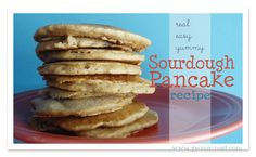 A *real* simple sourdough pancakes recipe that will make your toes curl. We were happily surprised at how nutty and delicious these pancakes turned out! Thm Pancakes, Sourdough Pancakes, Sourdough Recipes, Waffles, Trim Healthy Recipes, Trim Healthy Momma, Thm Recipes, Healthy Foods, Sourdough Dinner Rolls