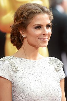 What would a red-carpet event be without at least one stunning plait creation? Maria Menounos' braided chignon was a gorgeous update on the braid crown, framing her face, and gathering in a nest of twisted tresses at the nape of her neck.