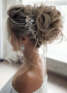 : wedding updo hairstyle, messy updo bridal hairstyle,updo hairstyles ,wedding hairstyles Hairstyles Gorgeous & Super-Chic Hairstyle That's Breathtaking - Fabmood Long Hair Wedding Styles, Wedding Hairstyles For Long Hair, Wedding Hair And Makeup, Bridesmaid Hairstyles, Hairstyles For Brides, Up Hairstyles For Wedding, Engagement Hairstyles, Updos For Brides, Hair For Bride