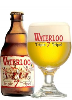 Waterloo 7 Triple, Brasserie Du Bocq from Purnode, Belgium More Beer, Wine And Beer, Beer Dip, Belgian Beer, Beer Brands, Brew Pub, Beer Label, Best Beer, Beer Brewing