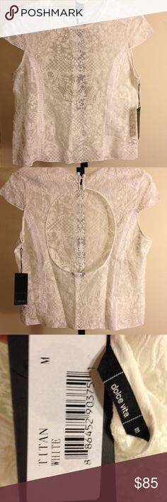 Anthropologie dolce vita lace shirt m nwt Brand new anthropologie see through lace delicate top cap sleeves cut put back size m the length from underarm to underarm is 19 inches across waist is 17 1/2 across length is 21 inches Dolce Vita Tops Blouses