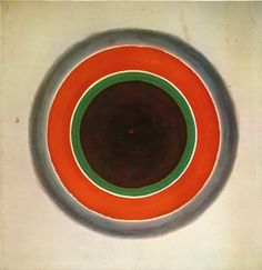 Kenneth Noland, A Warm Sound In a Gray Field 196.    Brother of Floyd Noland, entrepreneur of our Noland Trail.    Worked with color field artists.  Close with Morris Lewis.   Liked working with very thin paint.
