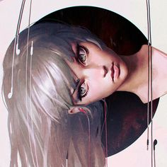 This piece is by Russian illustrator and story artist Ilya Kuvshinov, and is entitled 'Circles'. Kuvshinov paints beautifully rendered digital creations, and is heavily inspired by characters from Japanese manga/anime, games as well as high fashion models. What I love about his work is the sense of realism he creates. Although his characters are stylized and therefor unrealistic, his use of tone, lighting and colour brings them to life incredibly well.