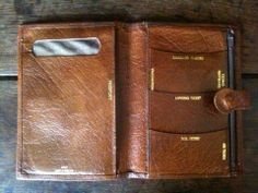 Vintage English Brown Passport Wallet / Calf / by EnglishShop, $59.00