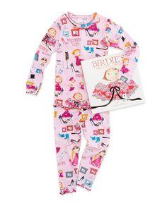 Birdie's Big Girl Dress Book and Pajamas Set