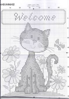Cross Stitch For Kids, Mini Cross Stitch, Cross Stitch Animals, Cross Stitch Charts, Cross Stitch Designs, Cross Stitch Patterns, Cat Cross Stitches, Cross Stitching, Cross Stitch Embroidery