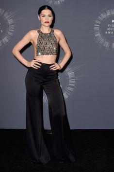 Mtv Video Music Award, Music Awards, Black Wide Leg Trousers, Jessie J, Mtv Videos, Video News, Artist, Dresses, Fashion