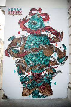 Latest volume of street art, urban art & wall murals from all over the world from many world street artists including INTI, Zilda, Aryz & Pablo S Herrero Art Wall, Graffiti, Public Art, Urban Art, Artist Blog, Painting, T Art, Art, Design Art
