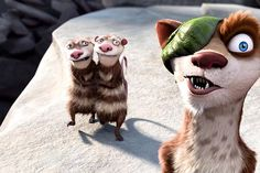 """L'age de glace 3 - Christoblog  Crash et Eddie  Vrais opossums, ces deux """"frères"""" d'Ellie sont terriblement dynamiques et font penser au duo d'écureuils terrestres Tic et Tac chez Walt Disney."""