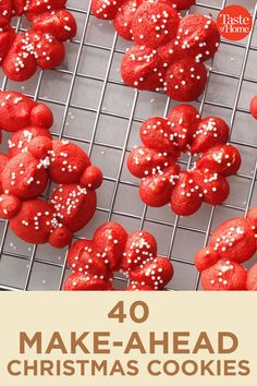 40 Make-Ahead Christmas Cookies