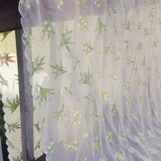I especially wish I'd remembered this gorgeous sheer lilies of the valley tablecloth earlier in the year. It's perfect for a spring wedding -- and big enough for a banquet table #vintagelinens #weddingtable #vintageebay
