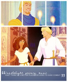 *ESMERALDA & CAPTAIN PHOEBUS ~ The Hunchback of Notre Dame, 1996