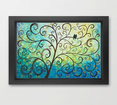 """Art prints, Fine Art Prints, Giclee prints Love Birds on Tree Branches Wall Decor Wall Art Wall Hanging """"A New Life"""" - by QIQIGallery by QiQiGallery on Etsy https://www.etsy.com/listing/156413927/art-prints-fine-art-prints-giclee-prints"""
