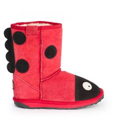 Just arrived! Check out the EMU Little Creatures Lady Bird! Made with the finest Australian suede and Merino Wool... #indigoplum #indigoplumshoes #poulsb #emu #kids
