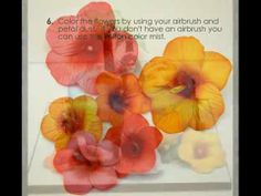 Tutorial on Gumpaste Hibiscus Flowers - by CakesbyMaylene @ CakesDecor.com - cake decorating website