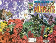The New Mutants Special Edition #1 wrap around cover by Art Adams.  I loved this book, inside and out.  (Art Adams also does the interiors.)  I copied it many times.  It is a really fun story by Chris Claremont combined with some amazing artwork.