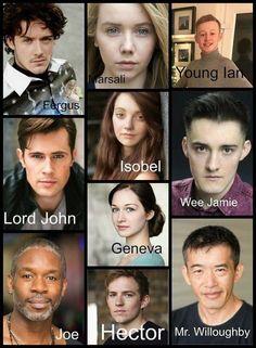 The cast for Outlander Starz season 3 Voyager