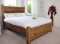 LazyDays Reclaimed Wood High-Back Bed - Modish Living