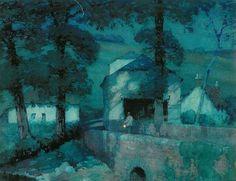 """""""Moonlight, South Devon."""" Albert Moulton Foweraker   (1873-1942) """