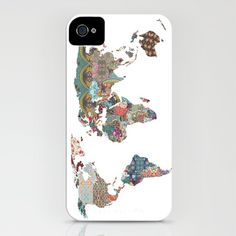 world map case for iphone
