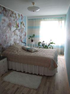 Raivauksen jälkeen makuuhuone on tilavampi ja kaikenlainen turha tavara on kadonnut.