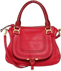 trend alert - red bags, chloe marcie bag in red