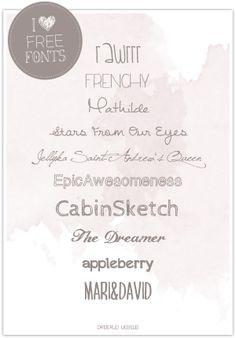 Dreierlei Liebelei: I ♥ Free Fonts! Part 10