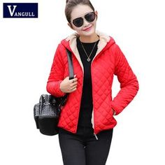Winter jacket hooded with zipper for students and young ladies