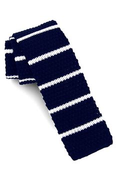 $39, Knit Cotton Tie Navy Regular by 1901. Sold by Nordstrom. Click for more info: http://lookastic.com/men/shop_items/58646/redirect