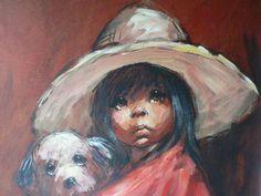 """""""Pepita"""" Original 60s Painting by Barry Leighton-Jones."""