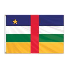 Central African Republic Outdoor Nylon Flag #FlagCo #OutdoorFlag #CentralAfricanRepublic