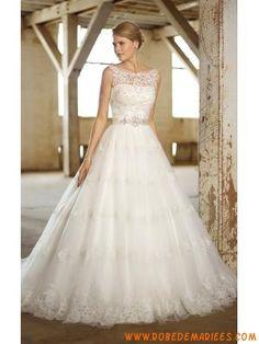 Robe de mariée princesse tulle dentelle ceinture