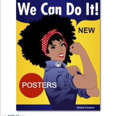 Poster Naturally revolutionary poster inspired by Rosie the Riveter. 18 by 24. Globalcouture.net Other
