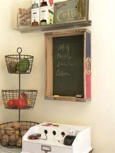 Wooden soda crate chalkboard